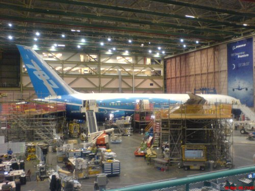 B787 Production Everett April 2008